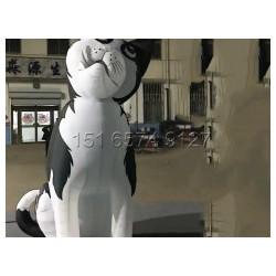 充气卡通狗哈士奇气模 商业庆典卡通狗吉祥物充气气模